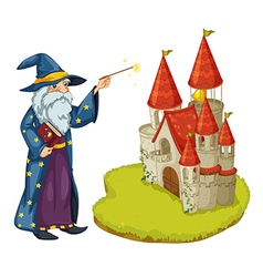 Castle wizard vector