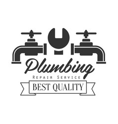 best quality plumbing repair and renovation vector image