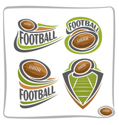 Logo american football ball vector