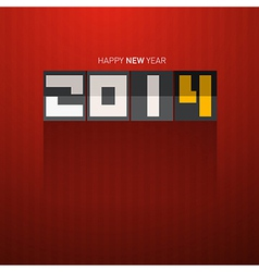 Happy new year 2014 tile on dark red background vector