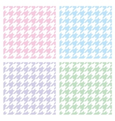 Pastel houndstooth seamless background set vector