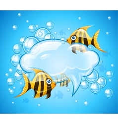 Bubbles cloud in aquarium vector