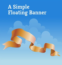 Floating banner vector