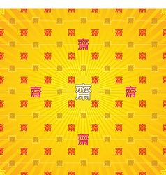 Vegetarian festival of chinese buddhism seamless vector