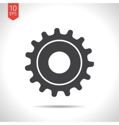 Cogwheel icon epsflat black0 vector