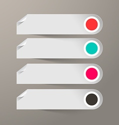 Empty paper labels set vector