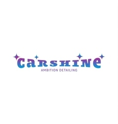 Logo car shine gradient  color vector