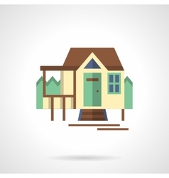 Tourist house flat color icon vector