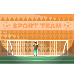 Goalkeeper playing soccer vector