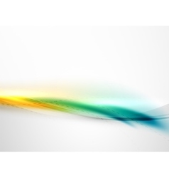 Bright color wave with blur and glowing effects vector