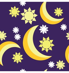 Seamless Night background vector image
