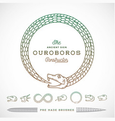 Abstract infinite ouroboros snake symbol vector