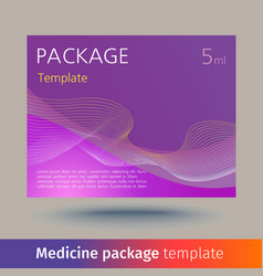 Medicine package template vector