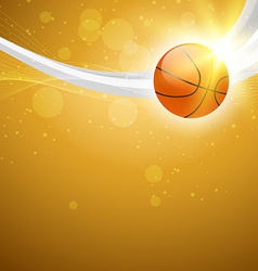 abstract background of basketball vector image vector image