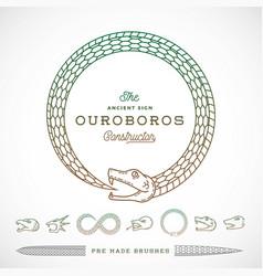 Abstract infinite ouroboros snake symbol vector