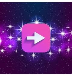 Arrow in night style UI vector image vector image