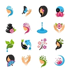 Beauty Icons Set vector image vector image