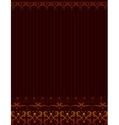 Brown background with ornamental border vector