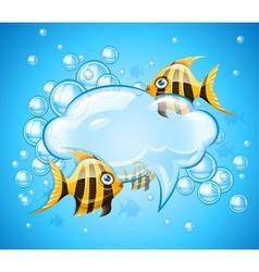 Bubbles cloud in aquarium vector