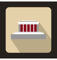Building icon flat style vector image