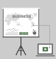 business presentation in office vector image