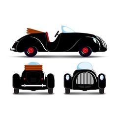 Cartoon black car vector image