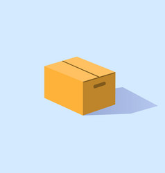 closed box made of cardboard vector image