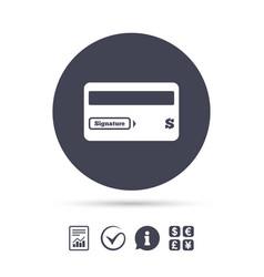 Credit card sign icon debit card symbol vector