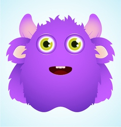 cute furry monster vector image vector image