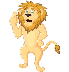 cute lion cartoon isolated vector image
