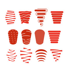 Doner kebab icon set vector
