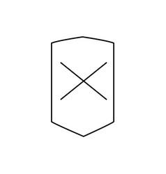 error shield icon vector image vector image
