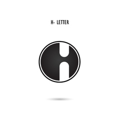 H-letter abstract logo vector image