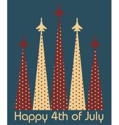 Happy 4th of July vector image vector image