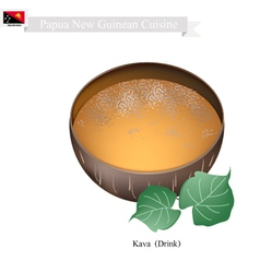 Kava drink or papua new guinea herbal beverage vector