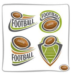 Logo american football ball vector