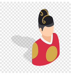 man in korean costume isometric icon vector image