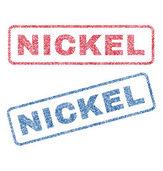 Nickel textile stamps vector