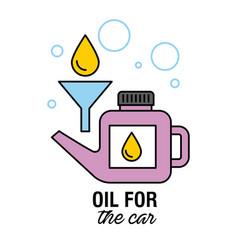 Oil for the car motor mechanic service transport vector