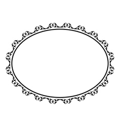 oval ornamental decorative frame vector image vector image