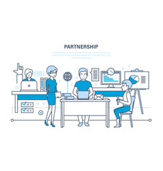 partnerships teamwork activities communications vector image vector image