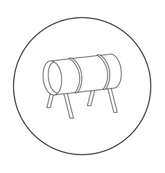 Playground tunnel icon in outline style isolated vector