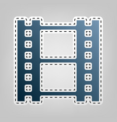 Reel of film sign blue icon with outline vector