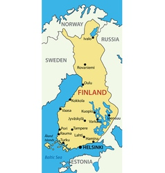 Republic of Finland - map vector image vector image