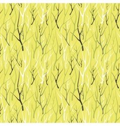 Seamless pattern with silhouette branches vector image vector image