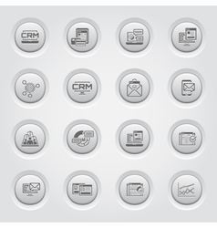 Set of business and marketing icons button design vector