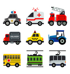 transportation car vehicles transport vector image