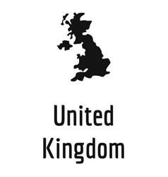 united kingdom map in black simple vector image