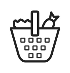 Vegetable Basket vector image