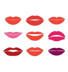 Woman lips set of lips silhouettes Custom vector image